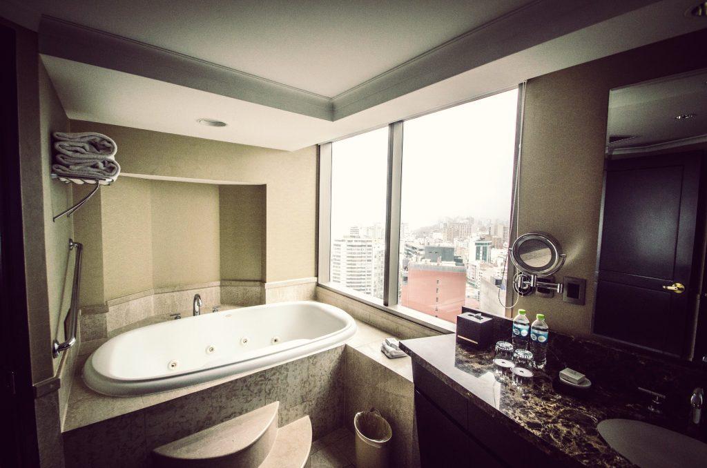 Bathroom at the JW Marriott Lima.