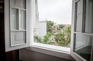 Open window overlooking Barranco neighborhood