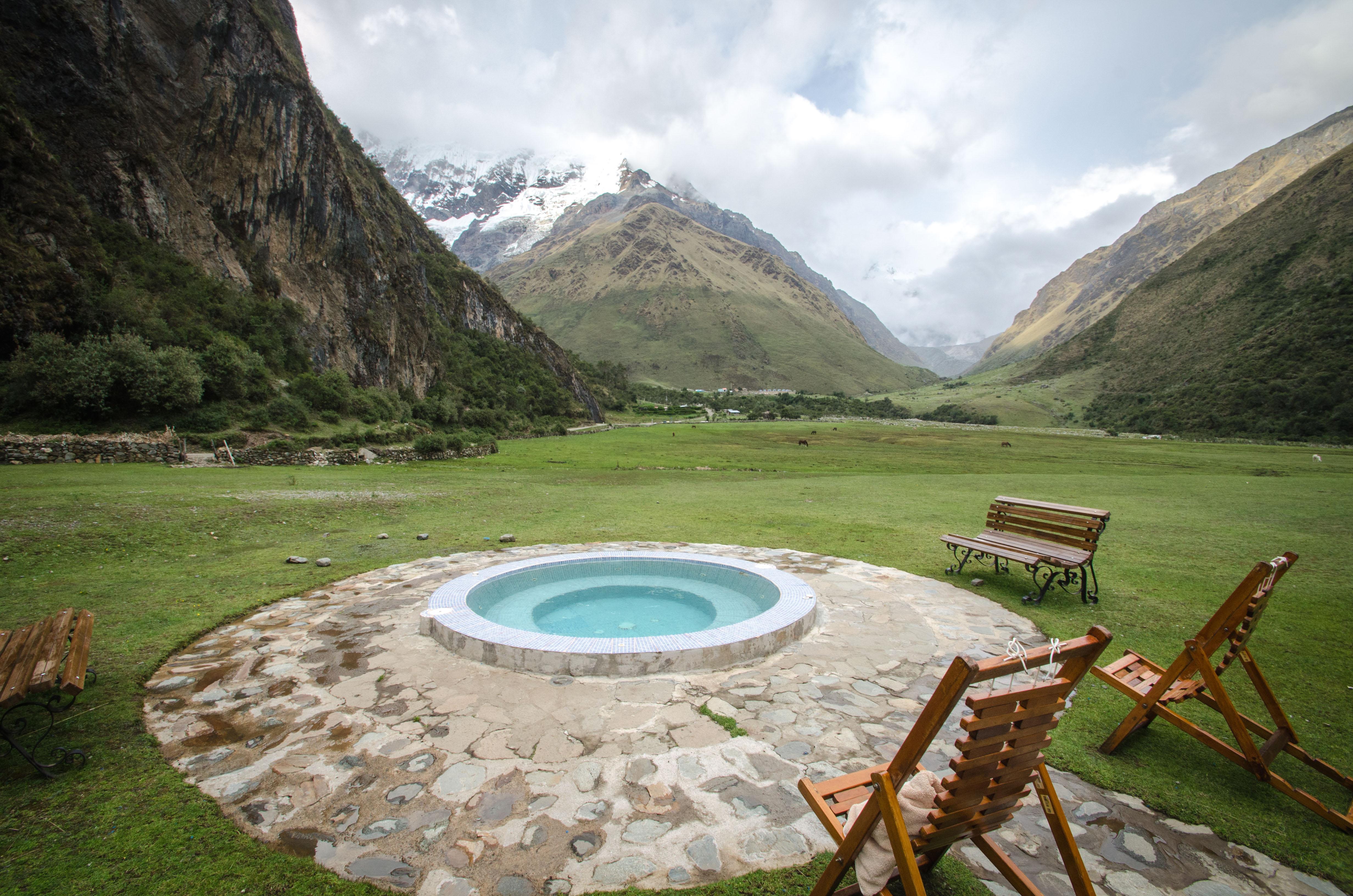 Dipping pool at Salkantay lodge