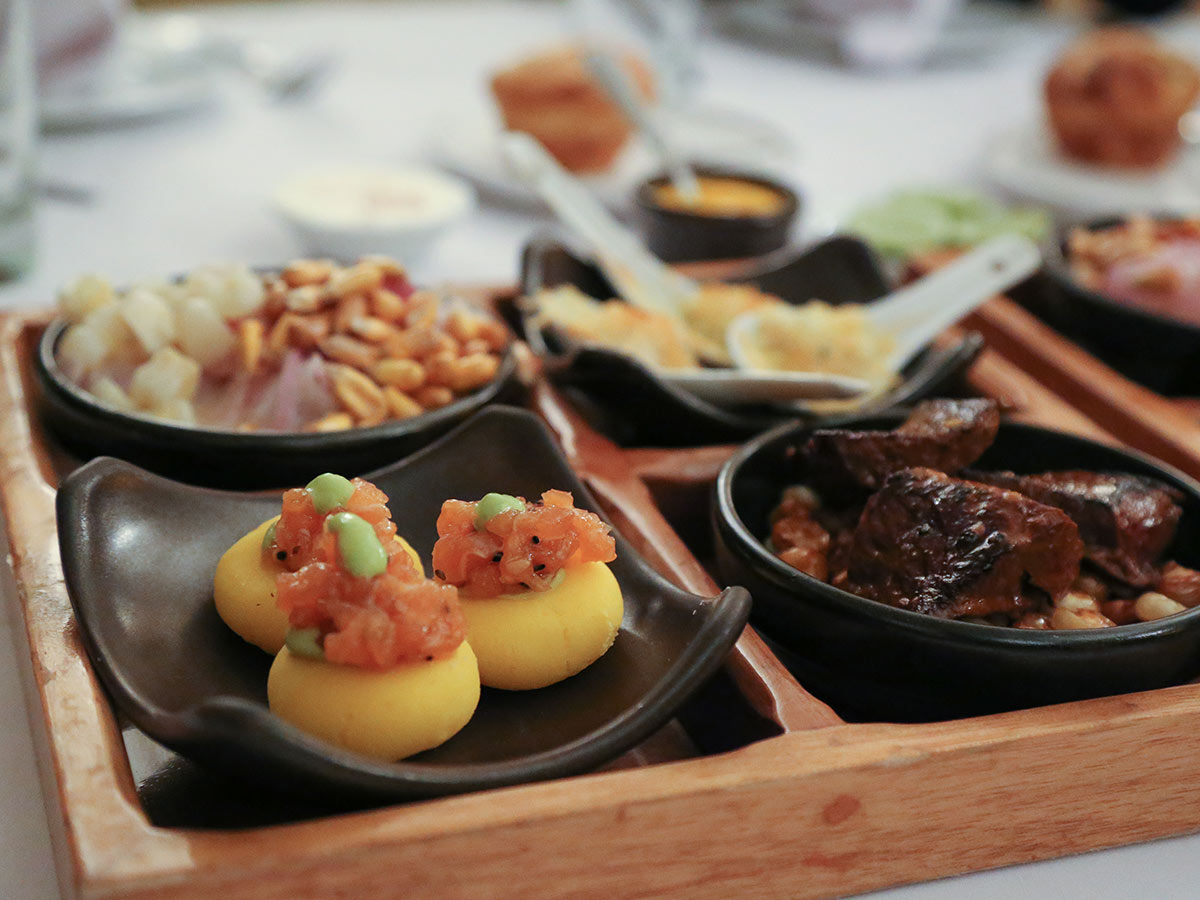 Peruvian food samples on a Peru culinary tour