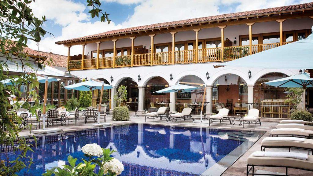 Belmond Palacio Nazarenas' outdoor heated swimming pool.