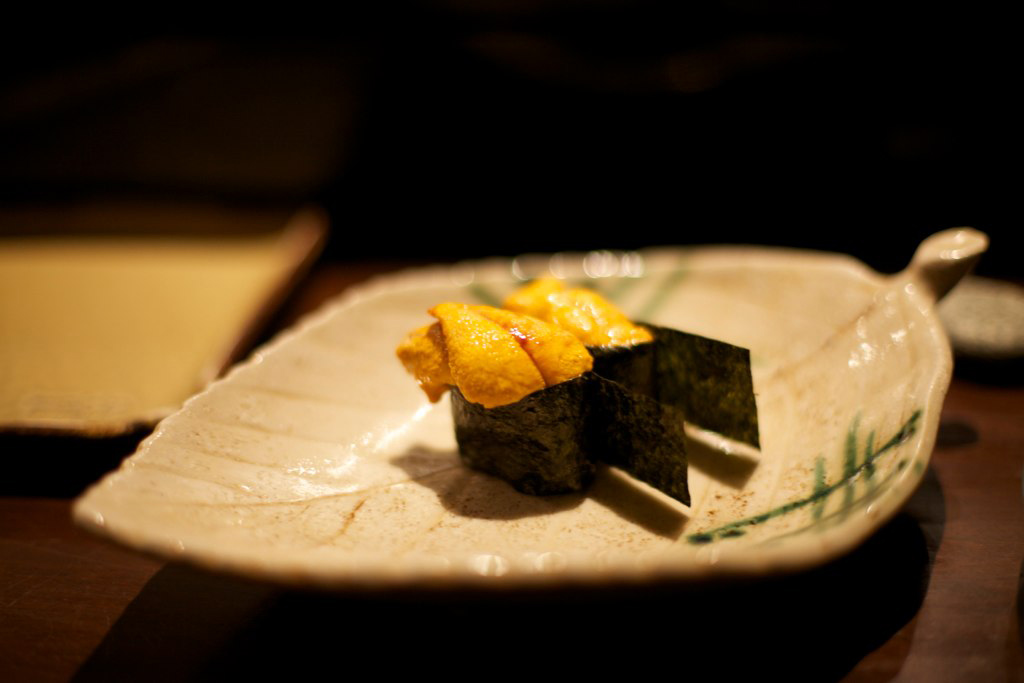 One of the courses served at Maido, a Nikkei (Peruvian-Japanese fusion) restaurant. Maido is ranked the 10th best restaurant in the world.